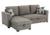 Sofa-lit sectionnel en tissu gris photo du produit other01 S