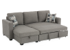 Sofa-lit sectionnel en tissu gris photo du produit other02 S